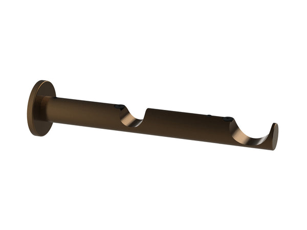 Double centre bracket for 19mm (back) and 30mm (front) dia. curtain poles