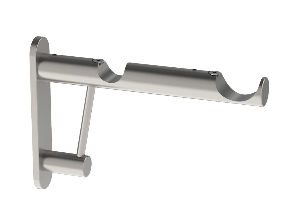 Double end bracket for 30mm and 50mm hollow metal poles in stainless steel