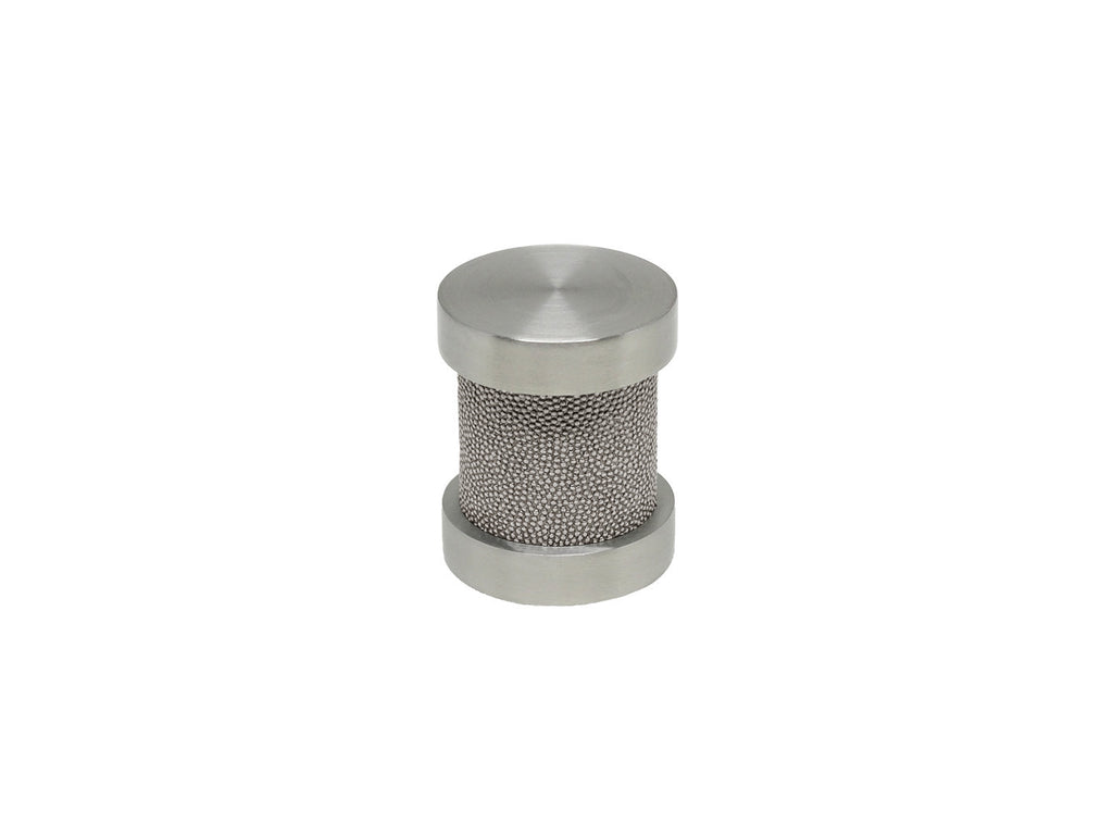 Dusk grey groove finial | Walcot House 30mm stainless steel collection