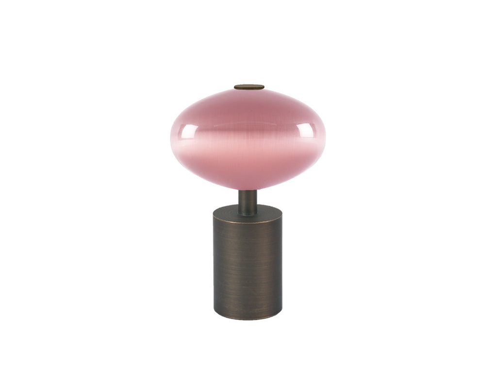 Glass moonstone finial in dusky pink | Walcot House 30mm collection
