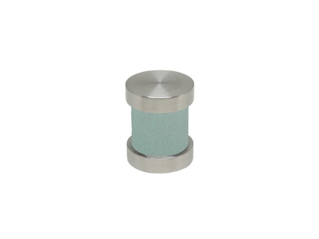 Eucalyptus duck egg groove finial | Walcot House 30mm stainless steel collection