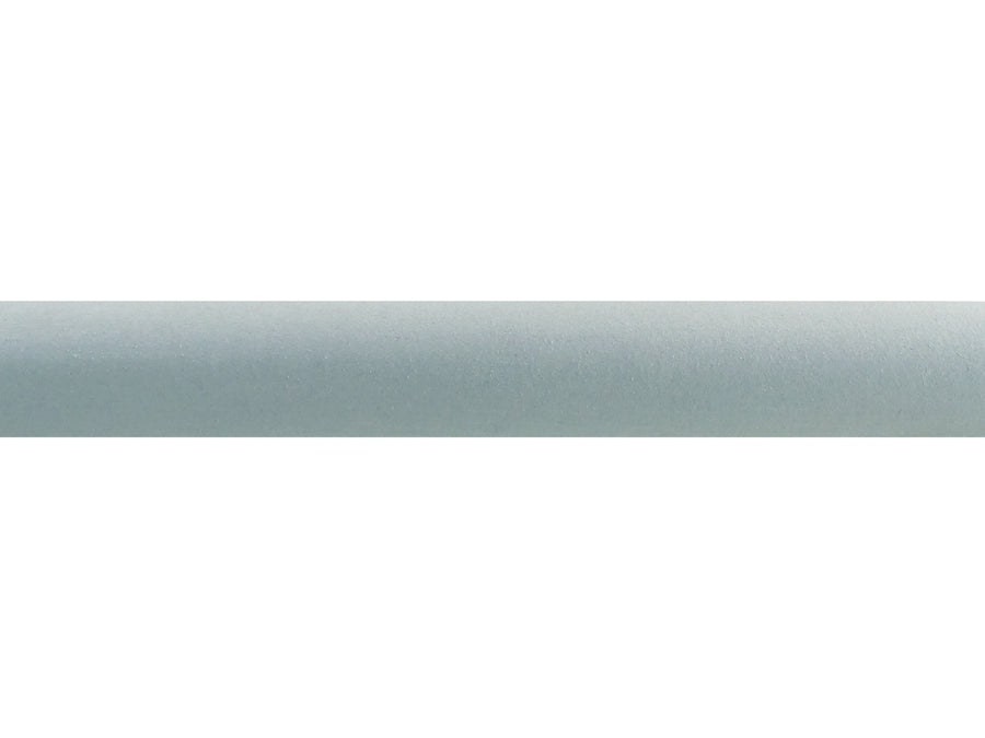 Eucalyptus duck egg blue suede wrapped & tracked curtain pole 50mm diameter | Walcot House