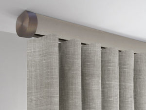 Flush ceiling fix curtain pole set in fawn by Walcot House