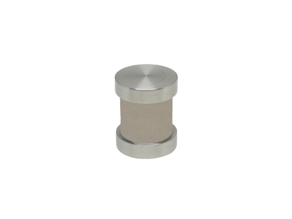 Fawn taupe groove finial | Walcot House 30mm stainless steel collection
