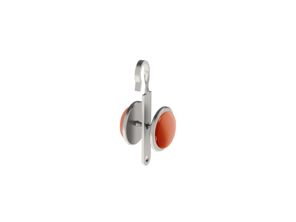 Flame coloured glass moonstone rivet | Walcot House rivet curtain heading for 50mm tracked poles