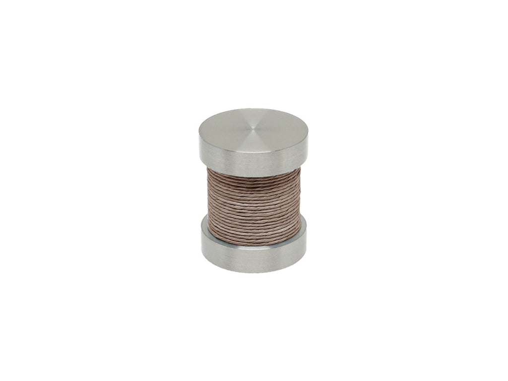 Fossil grey coloured twine groove finial | Walcot House 30mm stainless steel collection