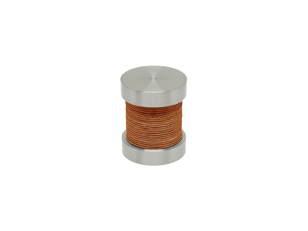 Fox orange coloured twine groove finial | Walcot House 30mm stainless steel collection