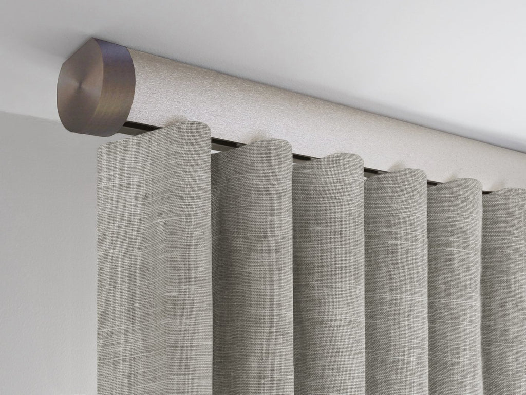 Flush ceiling fix curtain pole in gold dust by Walcot House