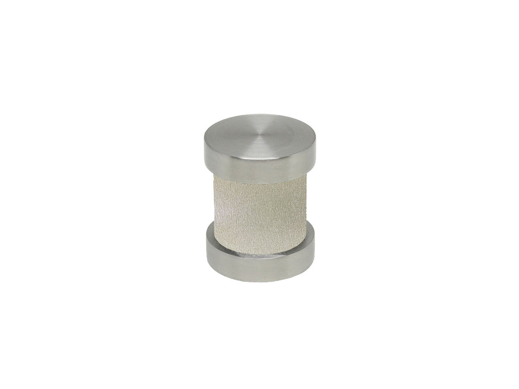 Gold dust groove finial | Walcot House 30mm stainless steel collection