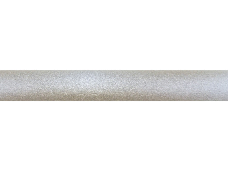 shimmering gold dust wrapped and tracked curtain pole silver track by Walcot House