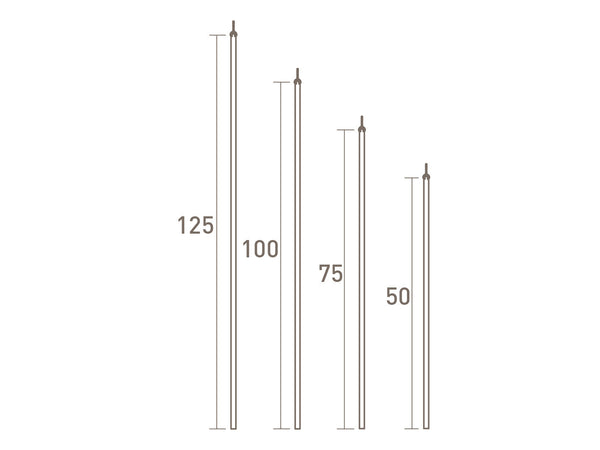 stainless steel curtain draw rod by Walcot House