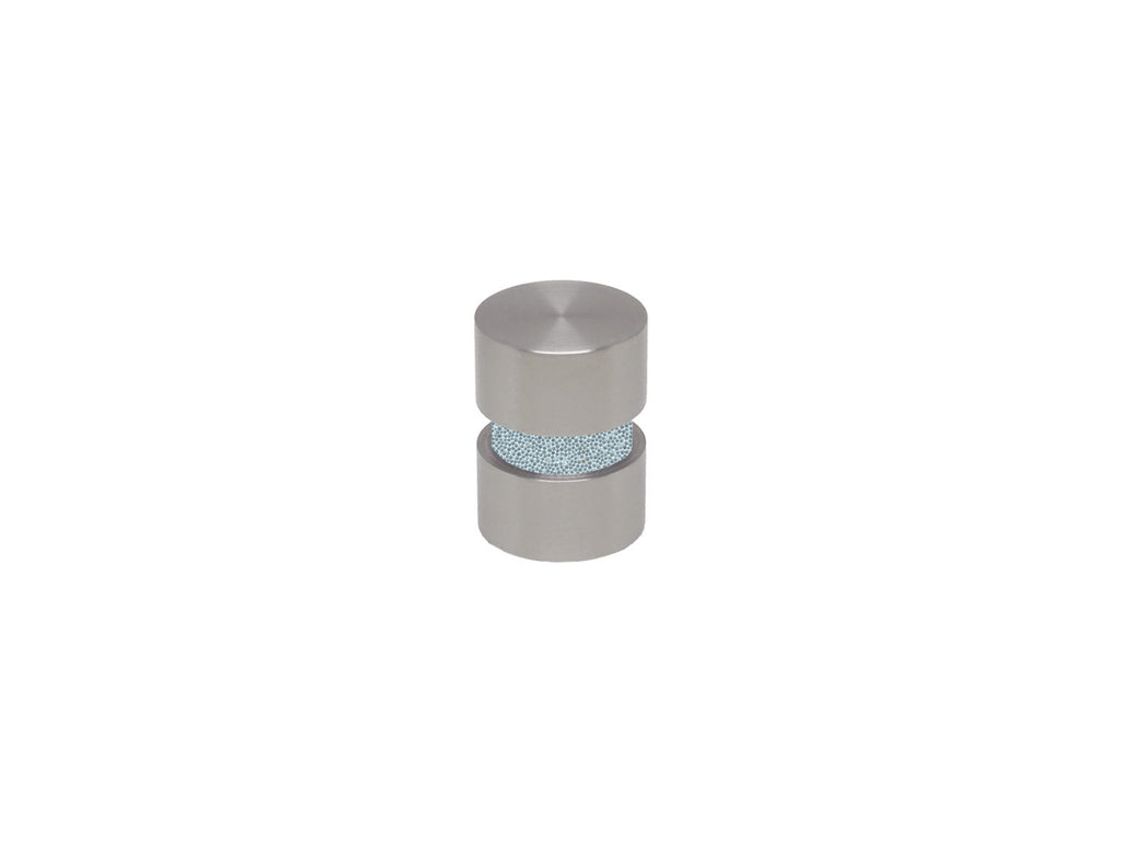 Ice blue curtain pole finial in stainless steel for 19mm curtain pole
