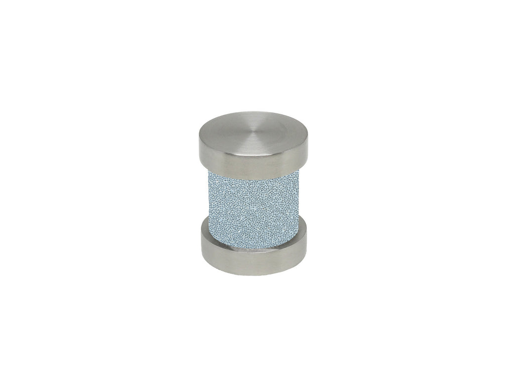 Ice blue groove finial | Walcot House 30mm stainless steel collection