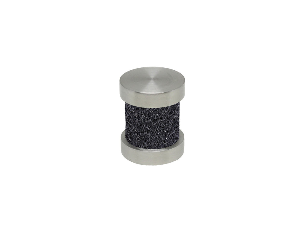 jet black groove finial | Walcot House 30mm stainless steel collection
