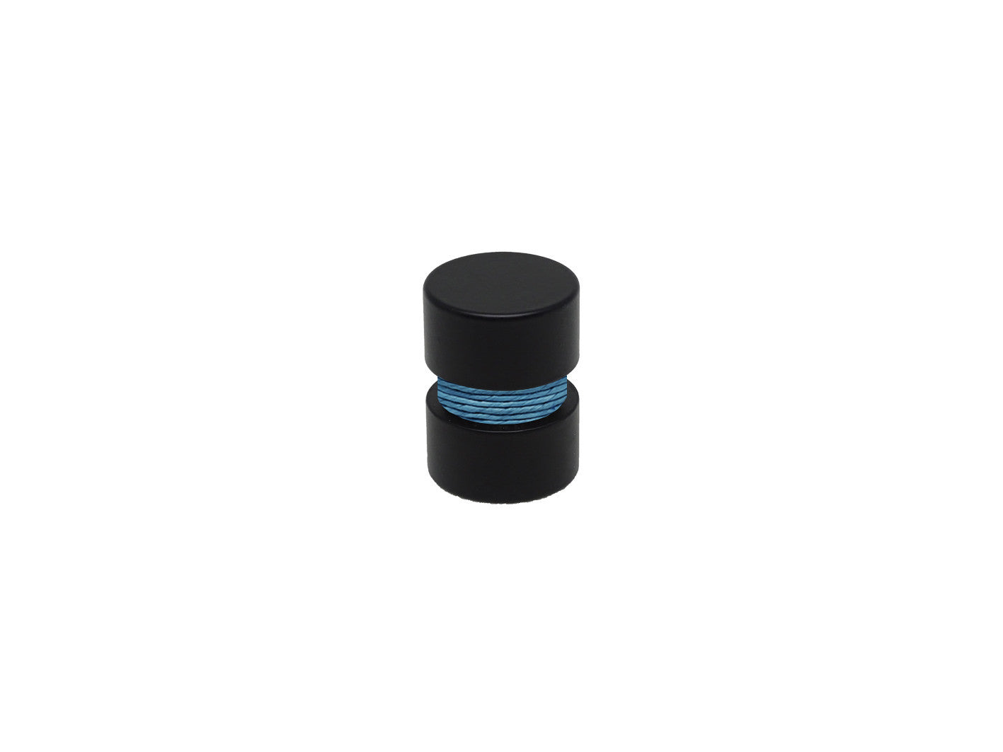 Black Curtain Pole Finial, Groove Coloured Twine For 19mm Curtain ...