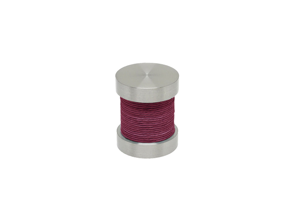 Loganberry purple coloured twine groove finial | Walcot House 30mm stainless steel collection