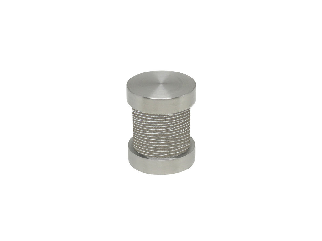 Marcasite grey groove finial | Walcot House 30mm stainless steel collection
