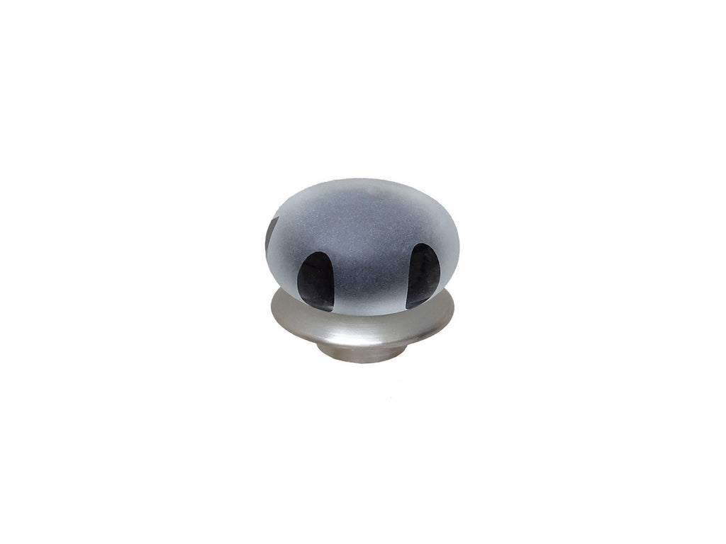 mini black glass lunar finial for 19mm diameter curtain poles