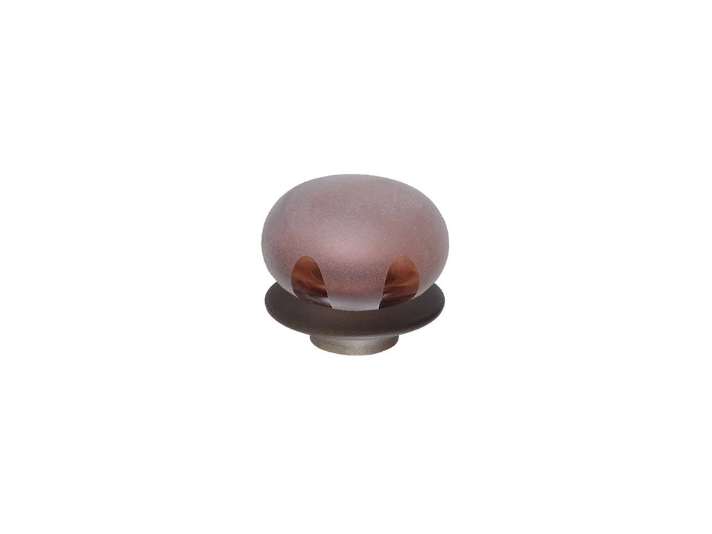 Mini glass lunar finial for 19mm dia. curtain poles