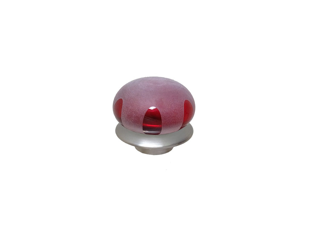 mini crimson red glass lunar finial for 19mm diameter curtain poles