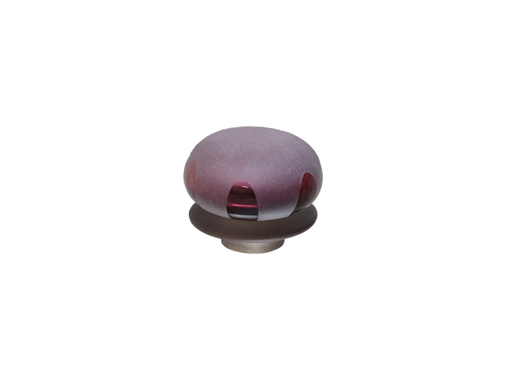 mini plum glass lunar finial for 19mm diameter curtain poles