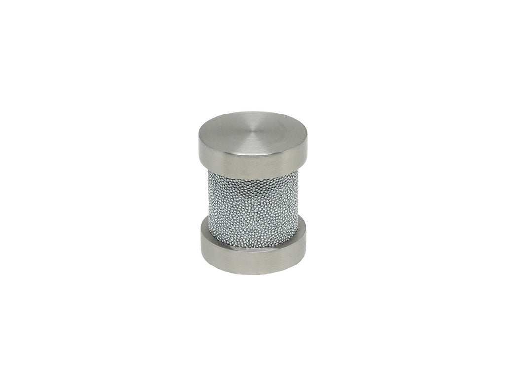 Moonlight blue groove finial | Walcot House 30mm stainless steel collection
