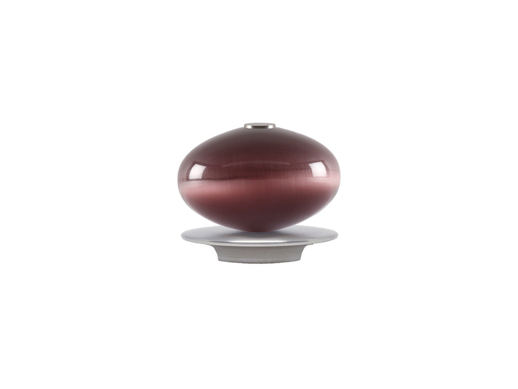 Glass moonstone finial in mulberry purple | Walcot House 30mm collection