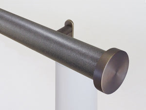 Designer electric curtain pole, powered by Somfy Irismo wirefree motorised curtain track | Walcot House curtain pole specialists UK