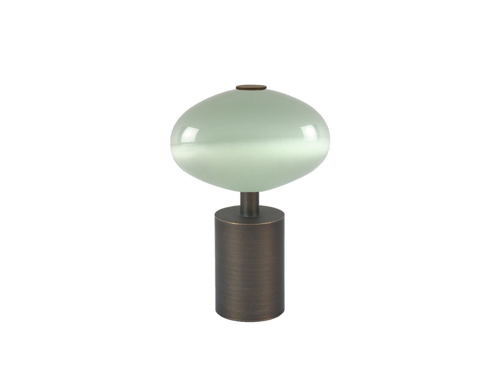 Glass moonstone finial in opal white | Walcot House 30mm collection