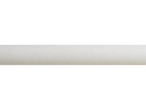 White ostrich wrapped & tracked curtain pole 50mm diameter | Walcot House