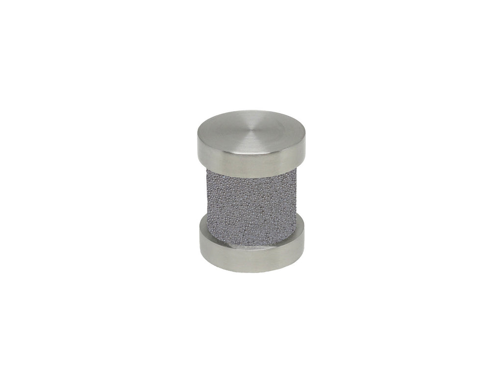 Oyster grey groove finial | Walcot House 30mm stainless steel collection