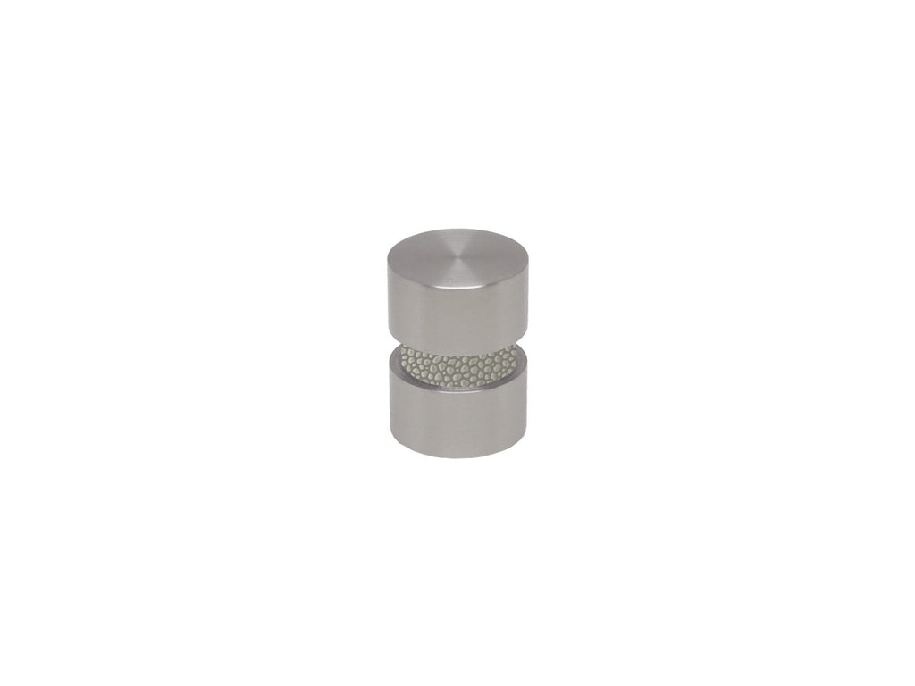 Pebble grey curtain pole finial in stainless steel for 19mm curtain pole