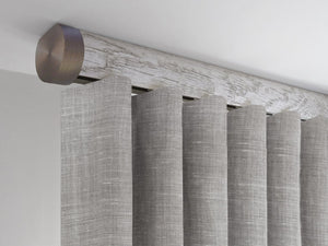 Flush ceiling fix curtain pole in pumice grey by Walcot House