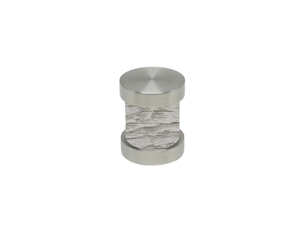 Pumice grey groove finial | Walcot House 30mm stainless steel collection