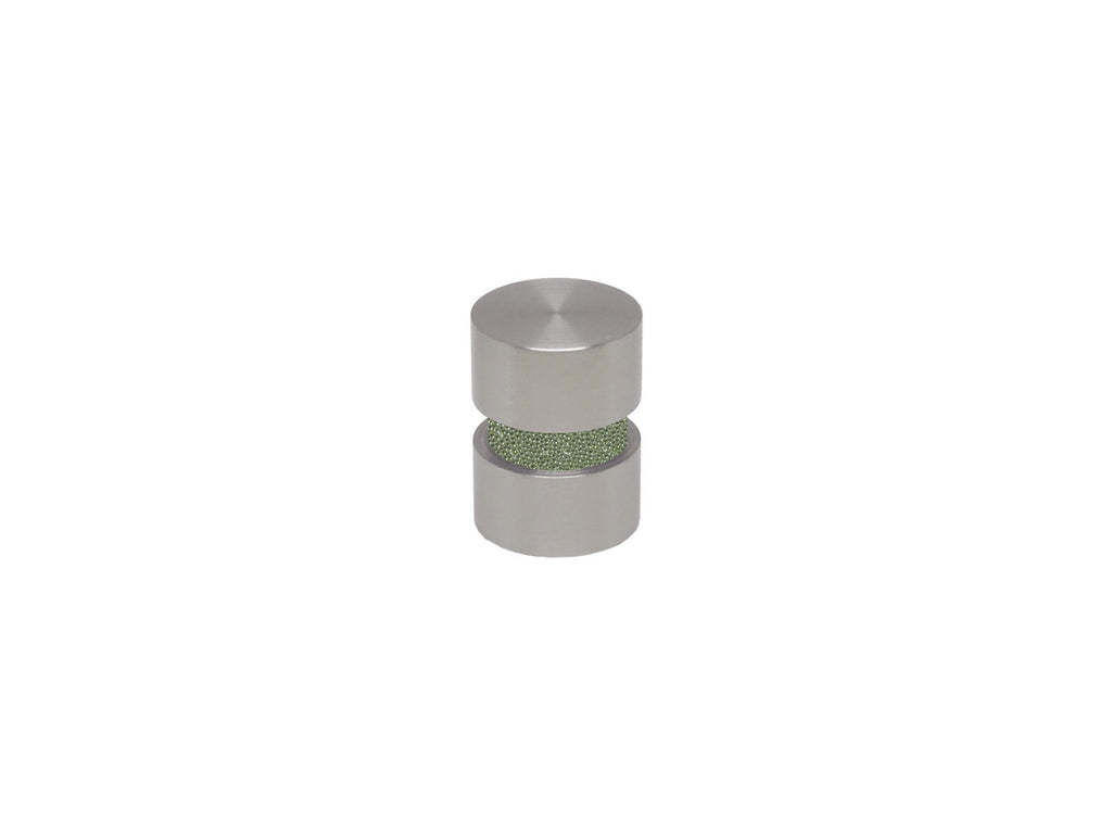 Sage green curtain pole finial in stainless steel for 19mm curtain pole