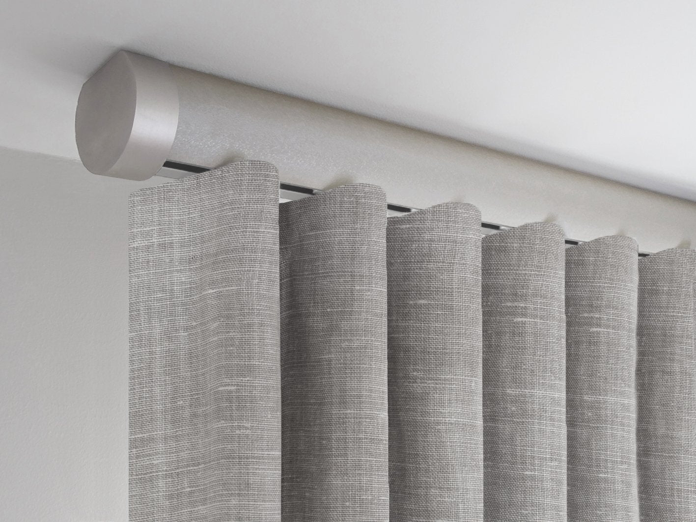 Flush Ceiling Fix Curtain Pole Set In Shadow By Walcot House