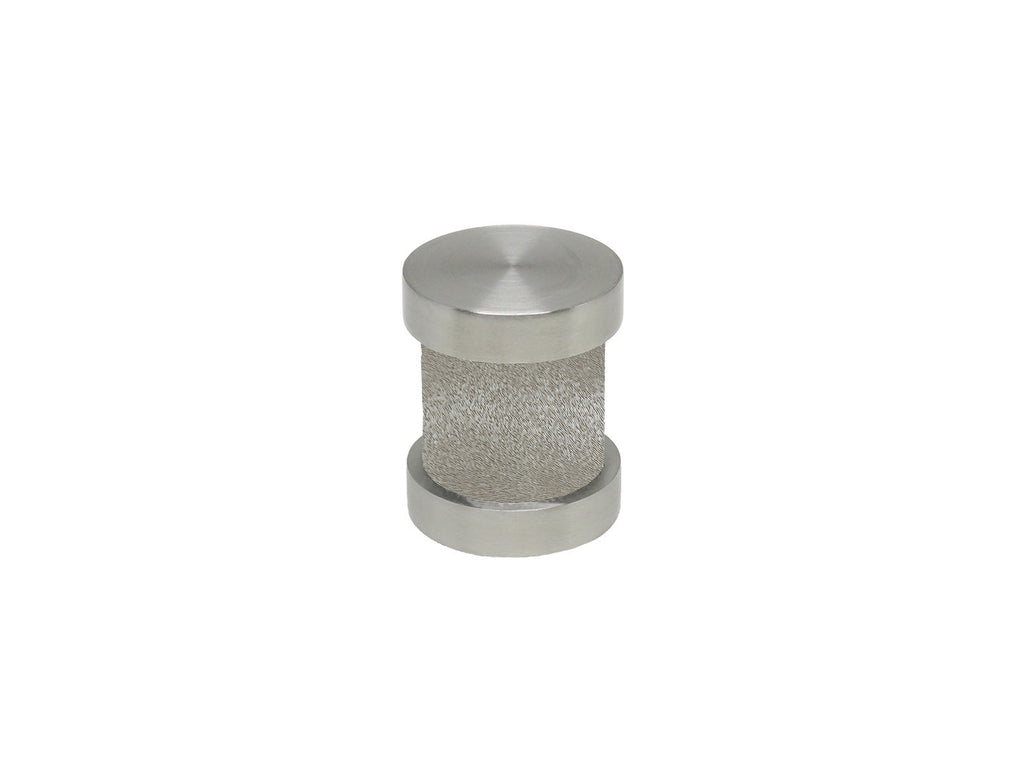 Shadow grey groove finial | Walcot House 30mm stainless steel collection