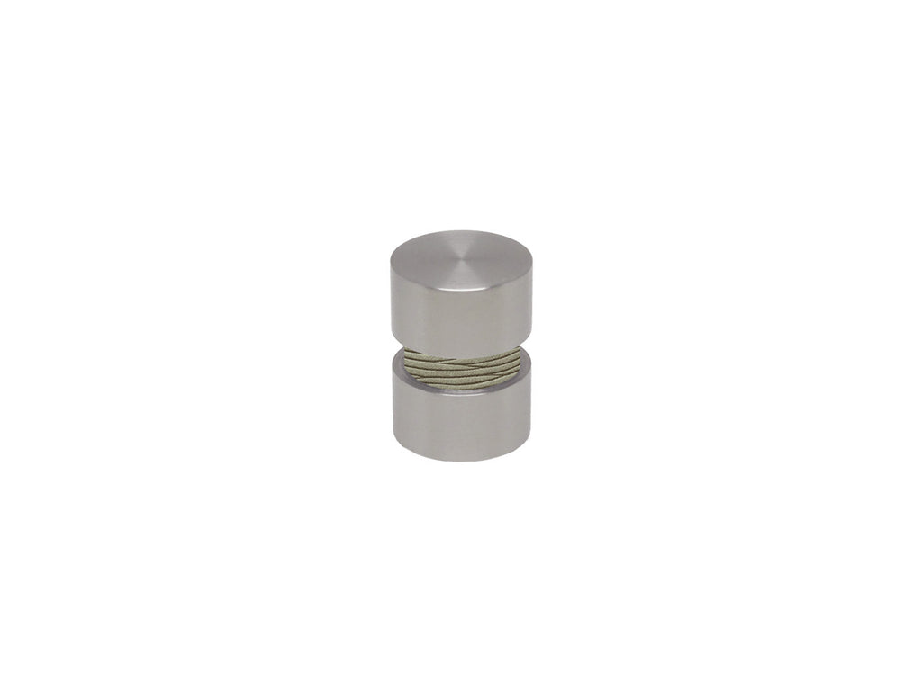 Shale green curtain pole finial in stainless steel for 19mm curtain pole