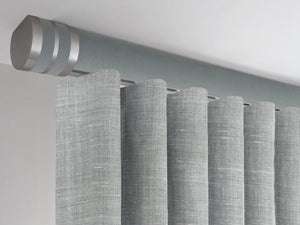 Slate grey ceiling fix curtain pole