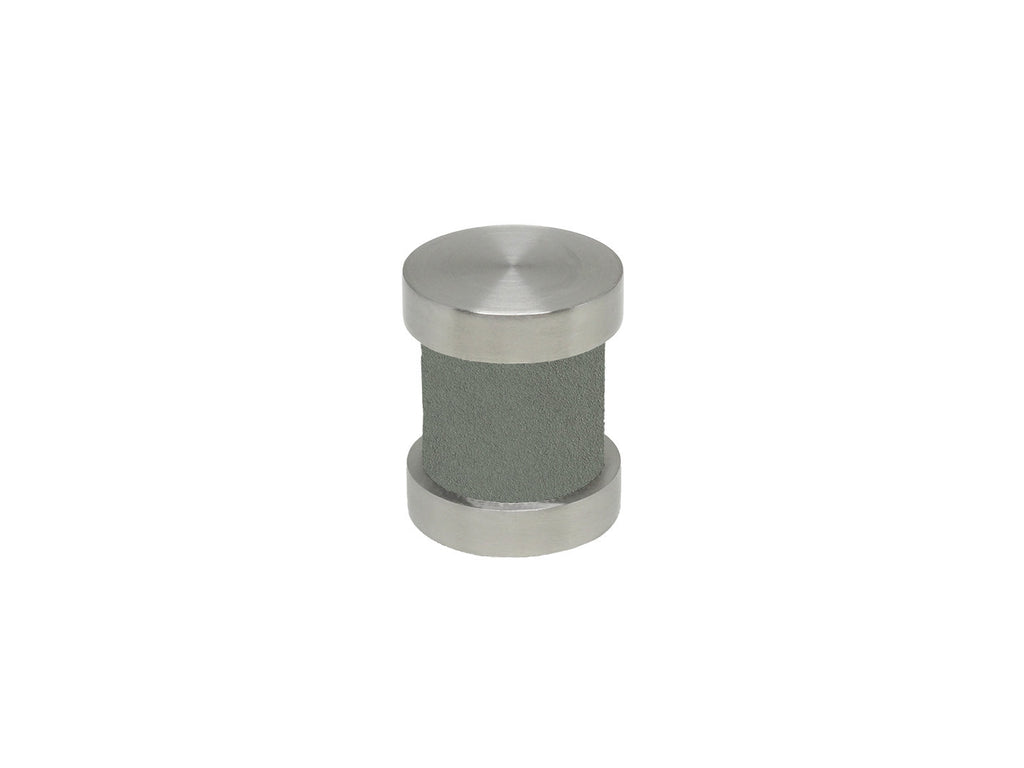 Slate grey groove finial | Walcot House 30mm stainless steel collection