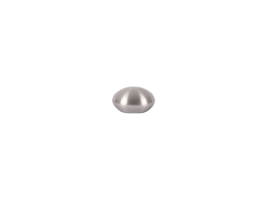 Elliptical Finial in stainless steel for 19mm curtain pole end
