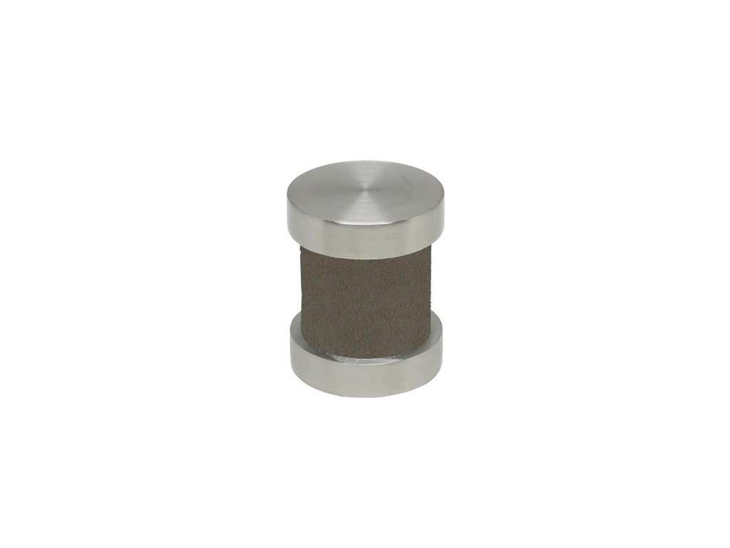 Vole brown groove finial | Walcot House 30mm stainless steel collection