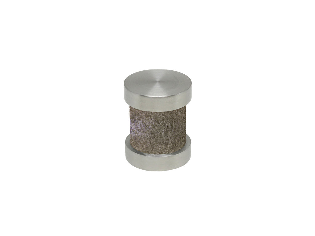 Warm Gunmetal gold groove finial | Walcot House 30mm stainless steel collection