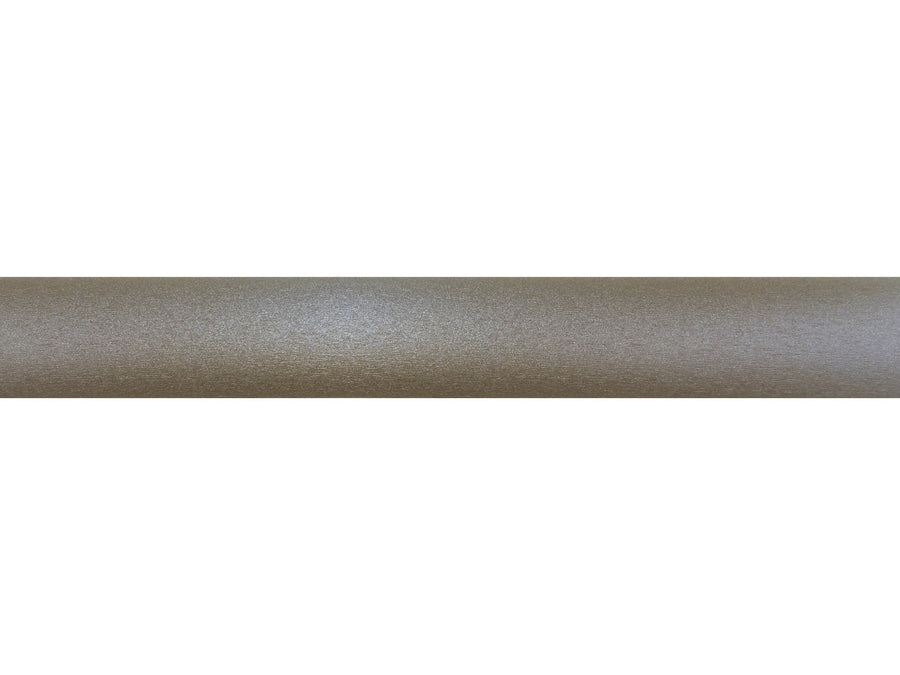50mm wrapped and tracked warm gunmetal curtain pole bronze track by Walcot House