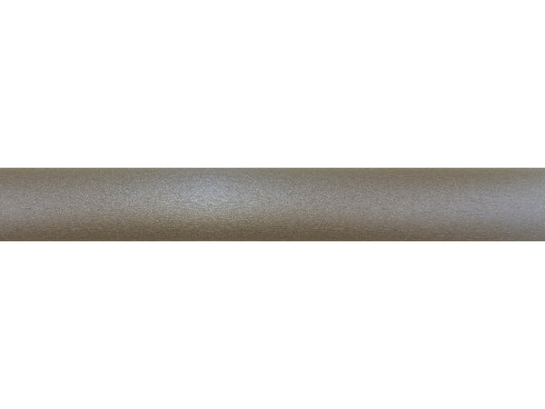 50mm wrapped and tracked warm gunmetal curtain pole by Walcot House