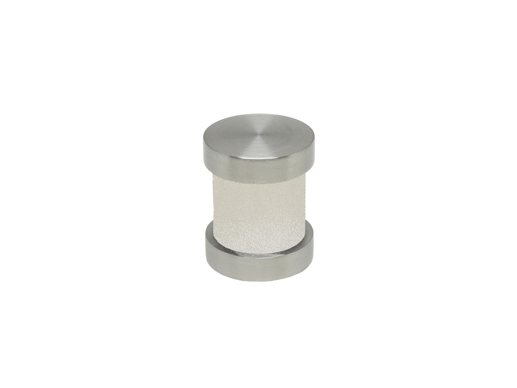 White Frost groove finial | Walcot House 30mm stainless steel collection