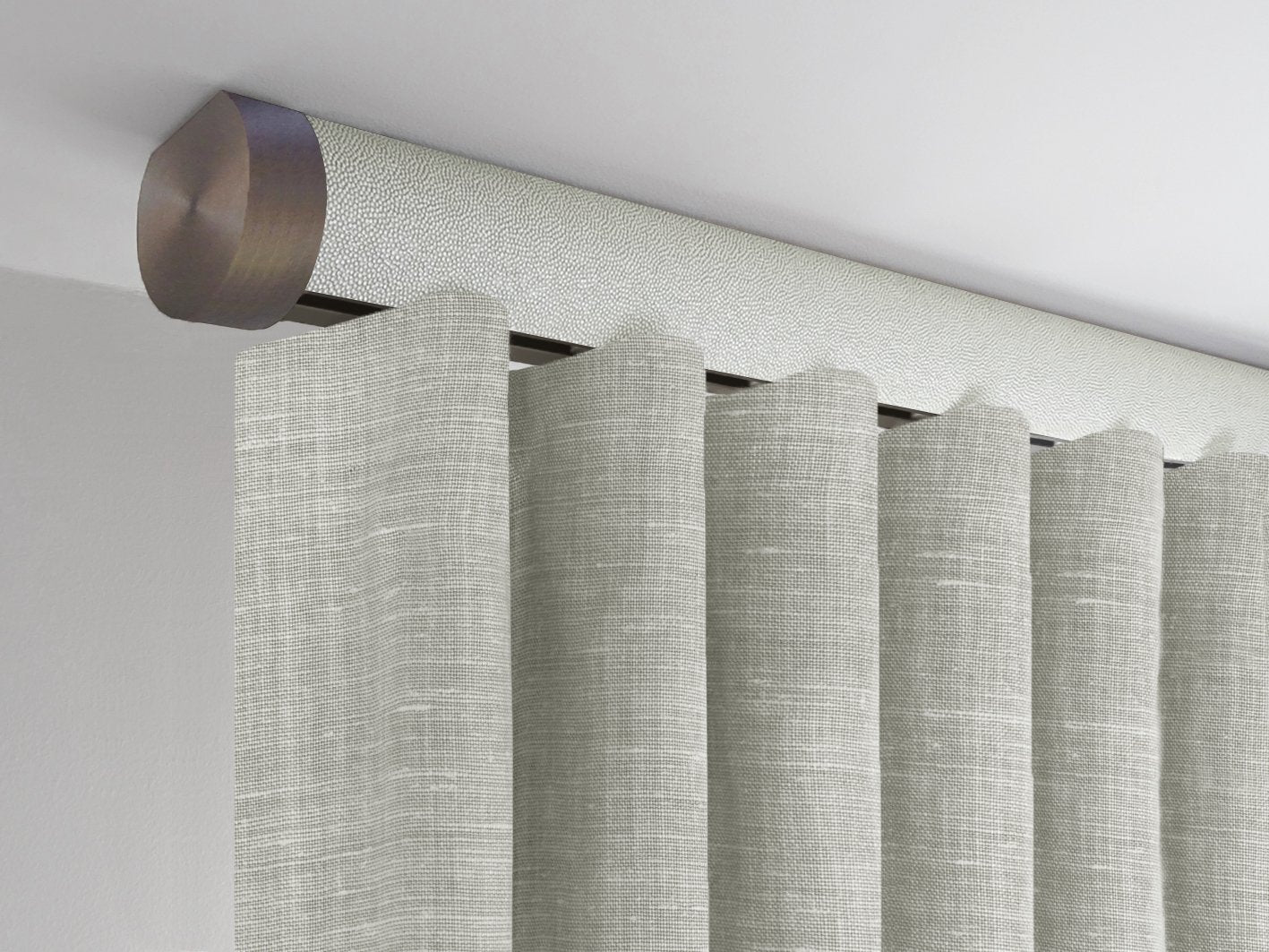 Tracked White Curtain Pole Ceiling Mounted Flush Fit Specialist Pole Walcot House