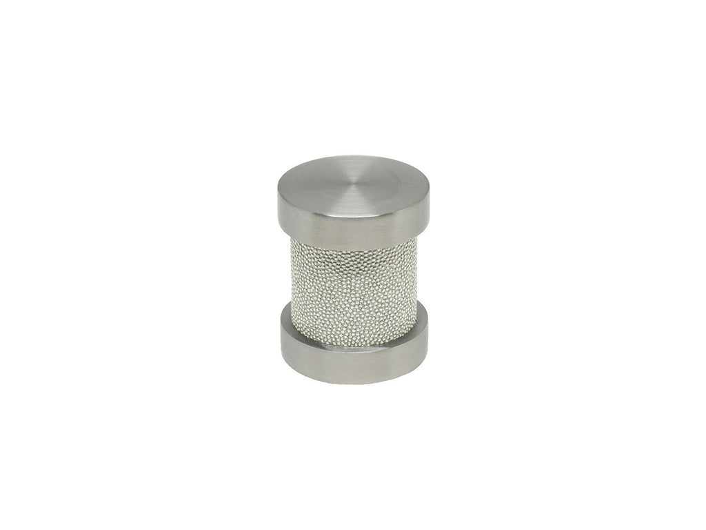 White Pepper green groove finial | Walcot House 30mm stainless steel collection