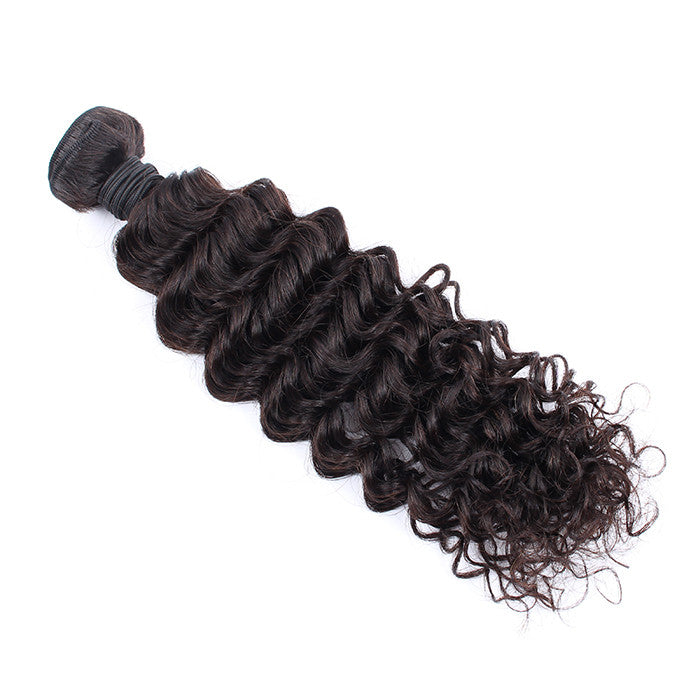 Grade 7A Peruvian Virgin Hair Bundles 1 Bundle Deep Wave