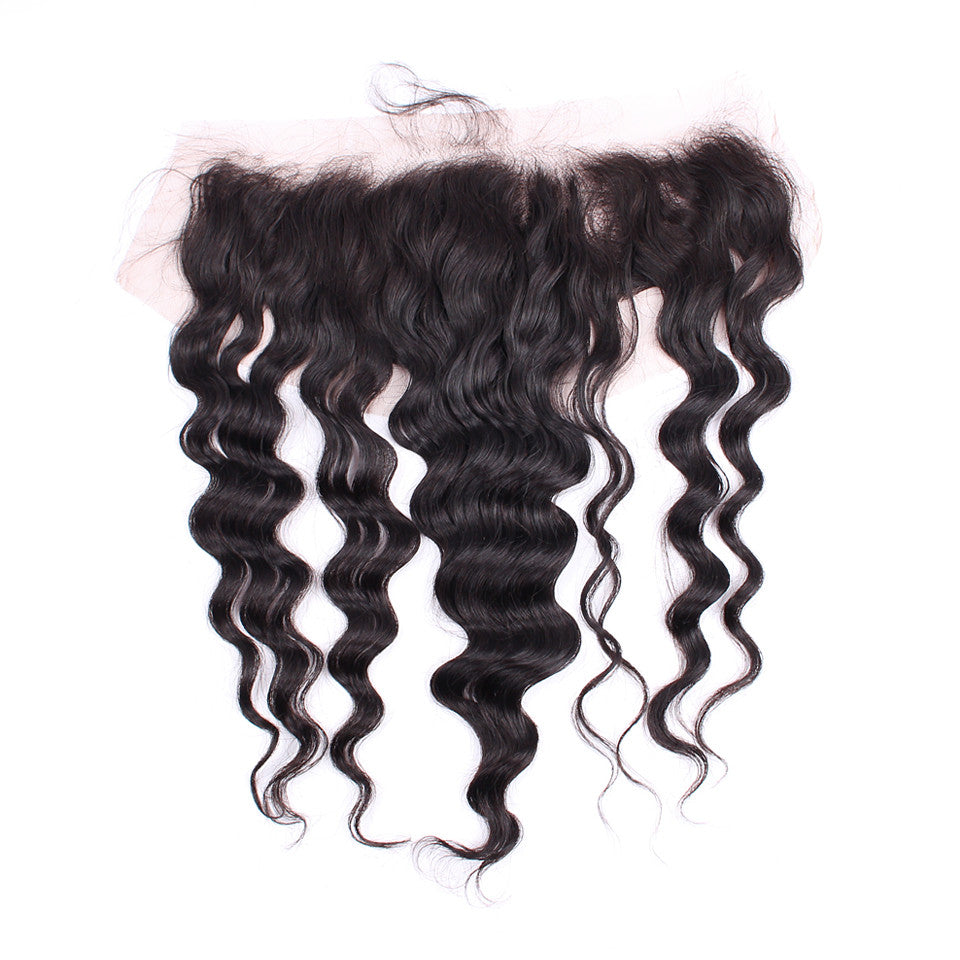 Swiss Lace 13*4 inch Lace Frontal Peruvian Loose Wave